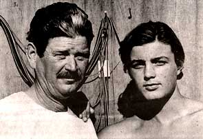 The author and his father in 1968